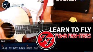 Como tocar Learn to Fly FOO FIGHTERS En Guitarra Acustica Tutorial COMPLETO Christianvib