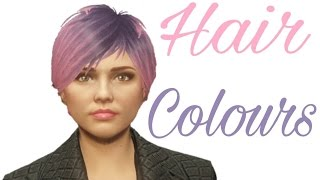 GTA V Online | Hair Colour Combinations