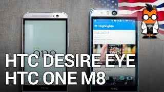 HTC Desire Eye vs HTC One M8 - size comparison