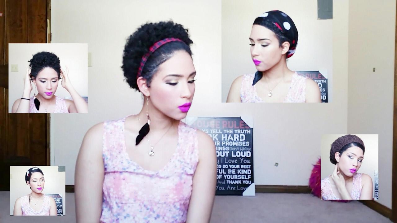 5 Peinados Para Cabello Natural Corto Rizado Afro Crespo Youtube