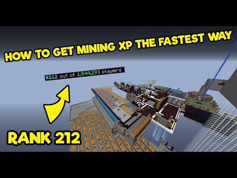 2 Fastest Ways To Get Mining XP (Rank 212) - Hypixel Skyblock