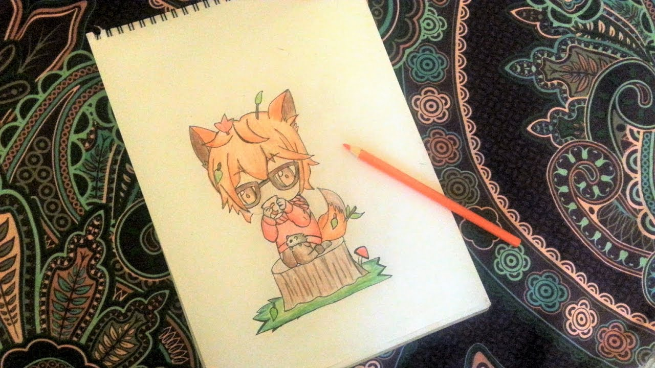 How to draw anime boy with a fox ears and hot chocolate animal costume easy and quick diyacake