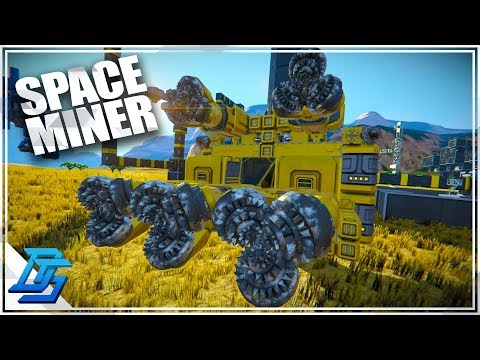 SPACE MINING SHIP, EARTH TO ASTEROIDS EASY - Space Engineers - Survival (2019)