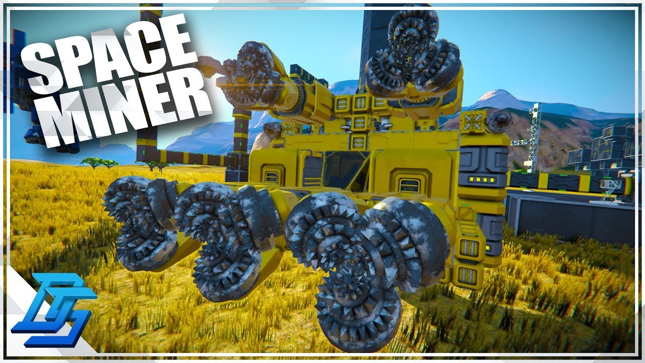 Space Mining Ship Earth To Asteroids Easy Space Engineers Survival 2019 Youtube