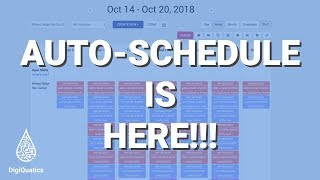 Build your staff schedule in MINUTES with Auto-Schedule from DigiQuatics!