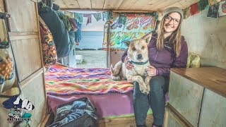 Woman lives for 5 Years in a Cargo Van. // Stealth Vanlife Tour.