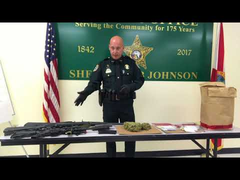 Santa Rosa County Sheriff Bob Johnson talks about recent drug bust