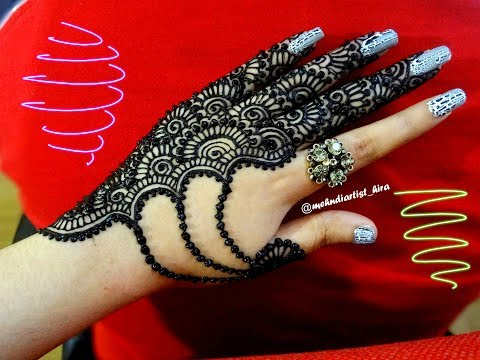 Beautiful trendy simple easy  jewellery henna mehndi Design for hands for eid,weddings