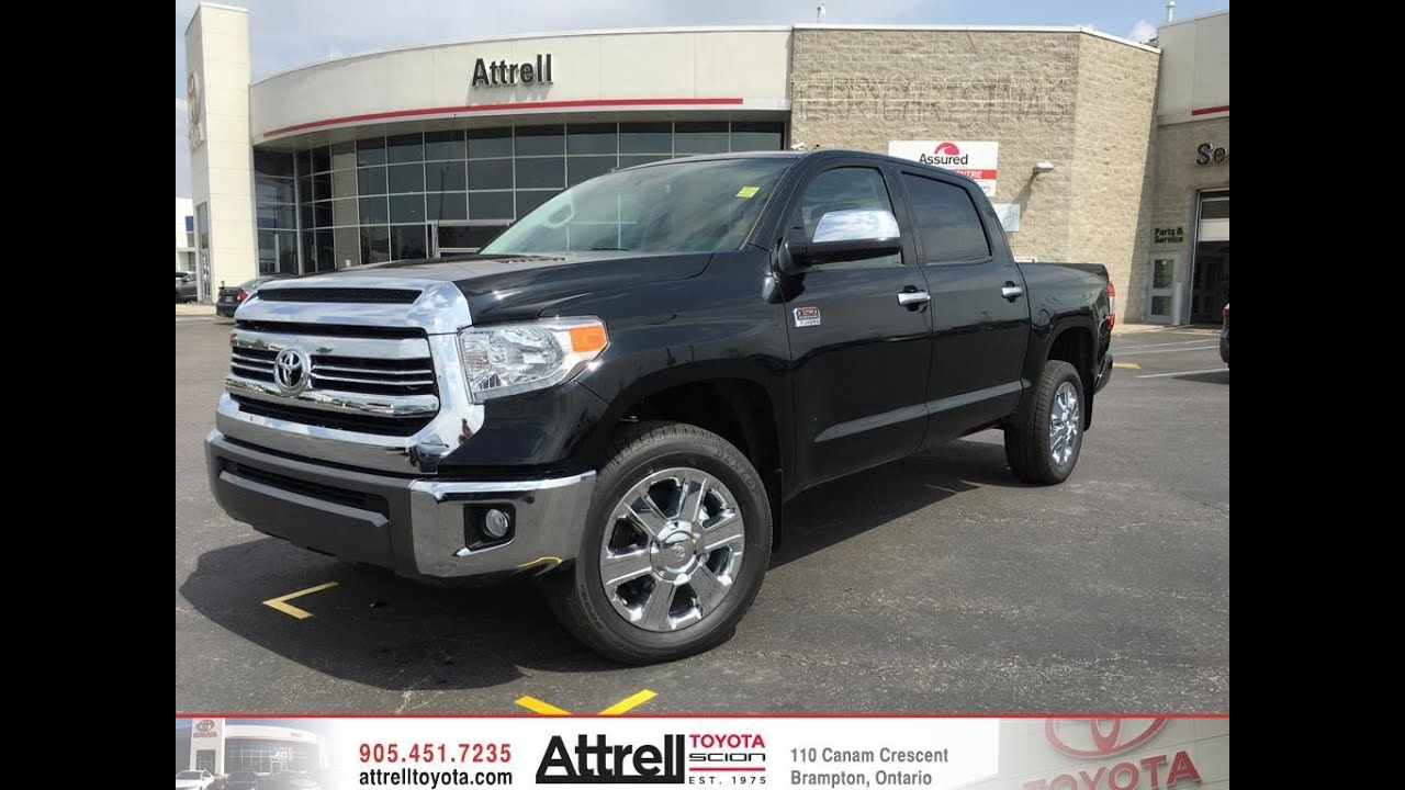 2016 toyota tundra 4x4 crewmax platinum 1794 edition toronto on attrell toyota youtube. Black Bedroom Furniture Sets. Home Design Ideas