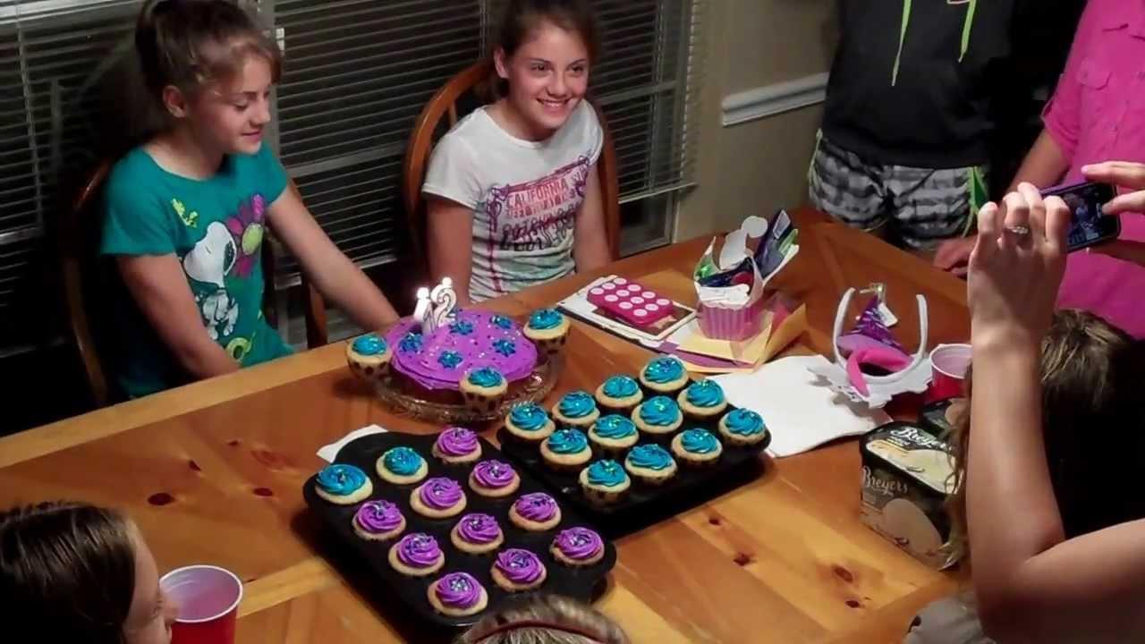 Happy Birthday Emma and Megan 12th birthday party YouTube
