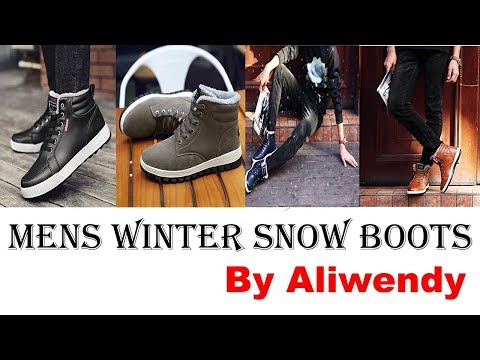 Mens Winter Snow Boots !! 2019 best men's winter boots !! Brand : Aliwendy