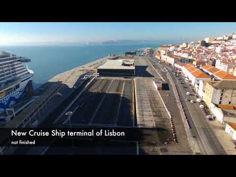 Old Lisbon and new Cruise Ship terminal - Bebop 2