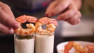 Холодный суп с аргентинскими креветками