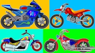 Kids Bikes Learning l Bikes Video l Dirt Bikes l City Bikes Kids Bikes
