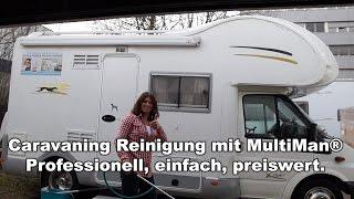 Wohnmobil und Wohnwagen professionell waschen