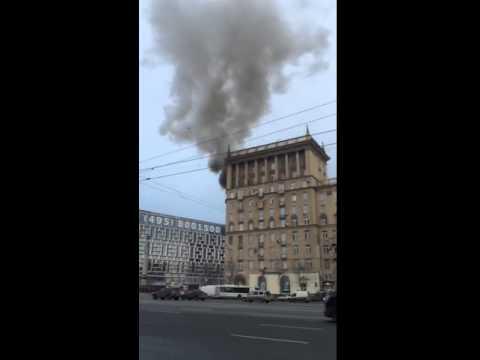 Пожар на Кутузовском 25.12.15
