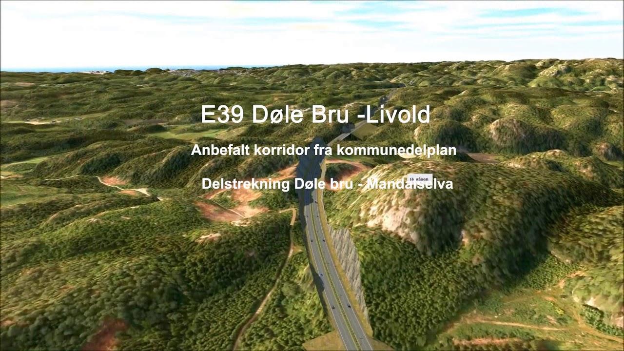 E39 fra Søgne til Mandal