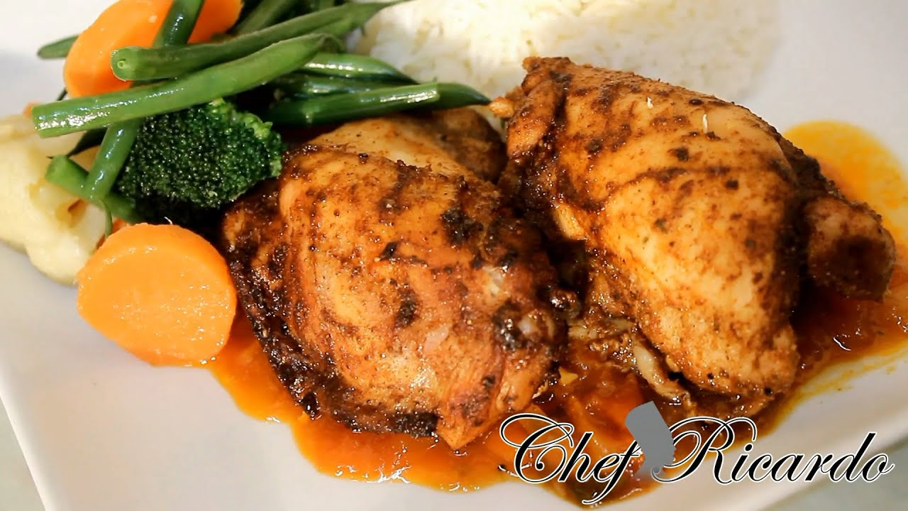 Jamaican Oven Baked Chicken Recipe How To Bake Chicken In The Oven Youtube