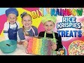 Kid Size Cooking: Rainbow Rice Krispies Treats