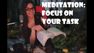 Meditation: Focus on Your Task