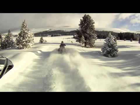 Snowmobile At The Wyoming High Country Lodge