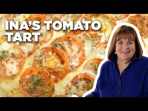 How To Make Inas Tomato Tart Food Network Youtube
