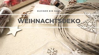 KiK HAUL | Weihnachtsdeko | VORFREUDE