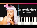 Katy Perry Quot California Gurls Quot EASY Piano Tutorial Chords How To Play Cover mp3