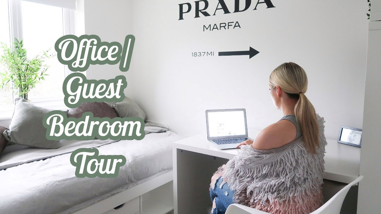Office Guest Bedroom Makeover Tour Decor Ideas And Inspiration Ellie Polly Youtube