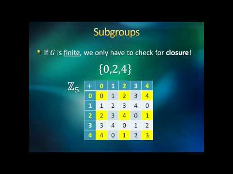 Introduction to Higher Mathematics - Lecture 16:  Group Theo