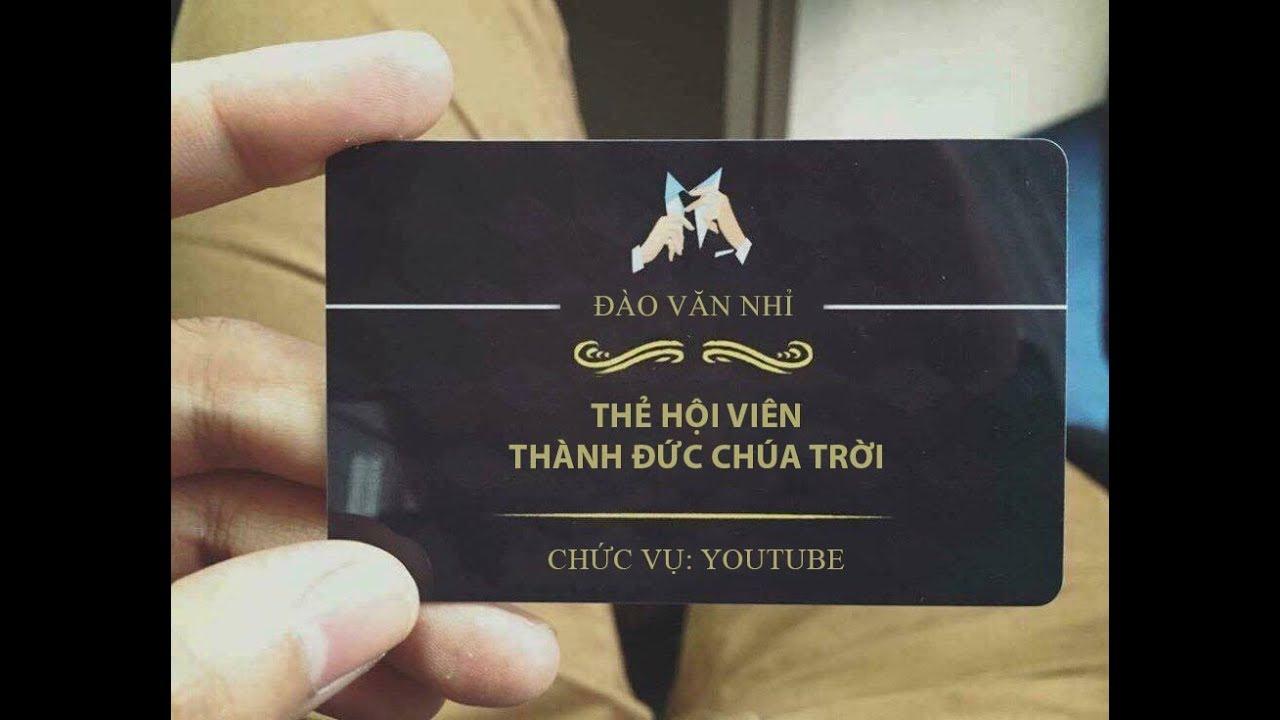 Cách làm giả thẻ thành viên của hội đức chúa trời