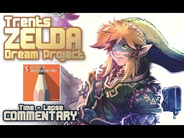 Legend of Zelda concept art in Sketchbook Pro
