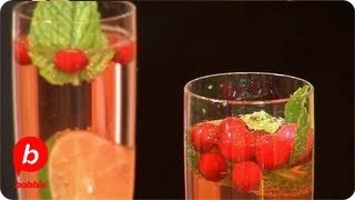 How to Make a New Years Cranberry Champagne Cocktail | The Live Well Network | Babble