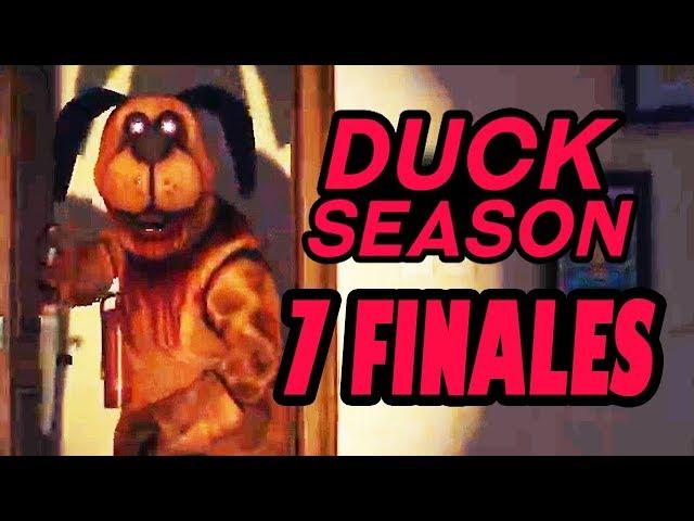 Duck Season TODOS LOS 7 FINALES | GUIA y SECRETOS en Español