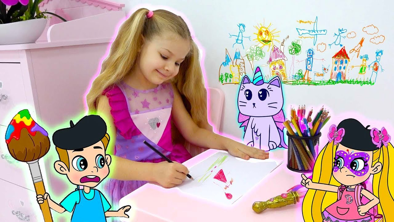 Diana and Roma Fun Cartoons to Learn Colors