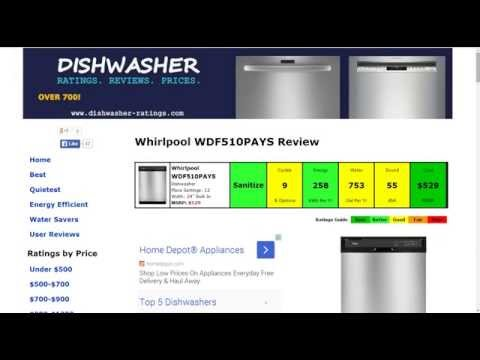 Whirlpool WDF510PAYS Dishwasher Review