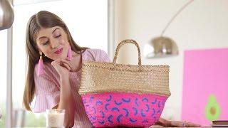 DIY This Colorful Painted Storage Basket