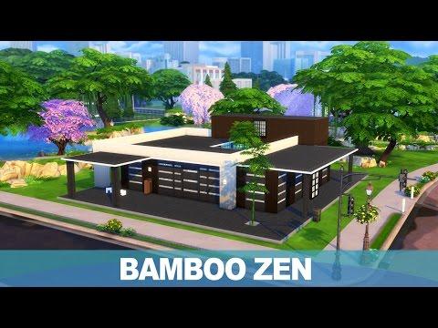 심즈4 건축 - 대나무 젠 하우스 | The Sims 4 Speed Build - Bamboo Zen House