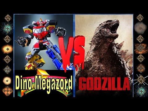 Dino Megazord (Mighty Morphin Power Rangers) Vs Godzilla (Original) - Ultimate Mugen Fight 2015