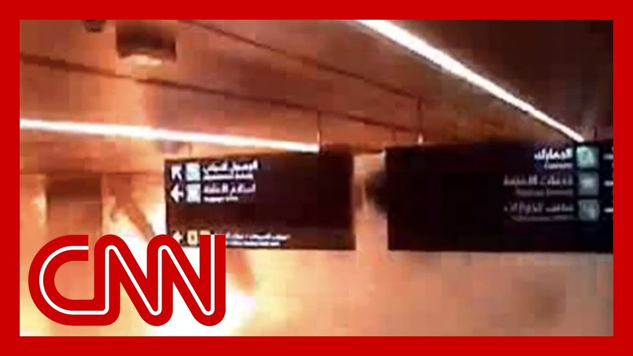 CNN:Airport camera shows moment missile strikes