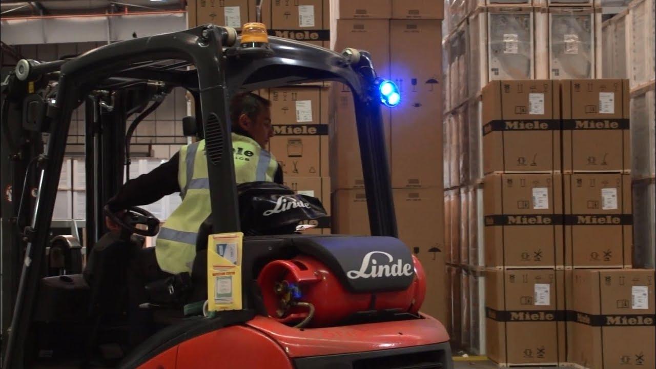 Повышенная безопасность склада с Linde BlueSpot
