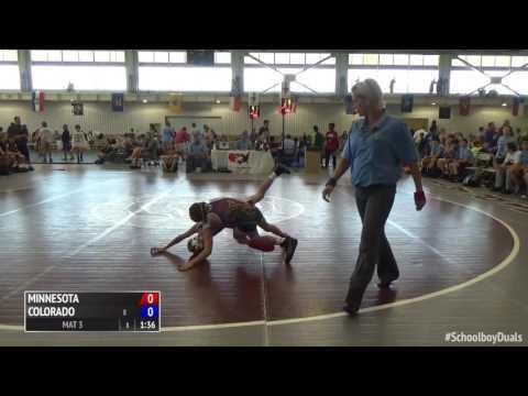 2016 Schoolboy Duals Greco-Roman Finals Minnesota vs. Colorado