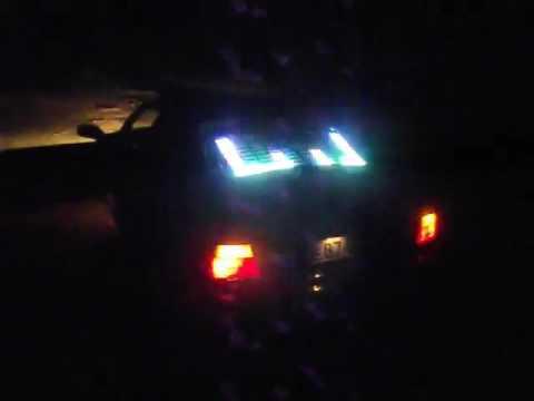 Светодиодный Эквалайзер на заднее стекло авто, анализатор спектра, тюнинг, BMW В ОБЪЁМ СТЕКЛА