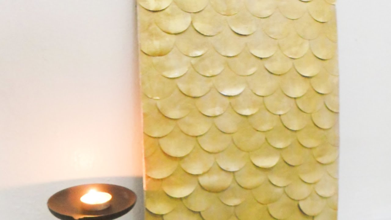 How To Create Sophisticated Paper Wall Decor - DIY Home Tutorial ...