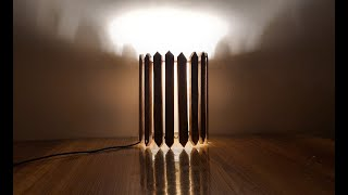 How to make a wooden lamp.लकड़ी का लैंप बनाये