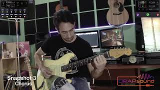 "Francesco Congia plays  preset ""DRAPgales - Snapshot 3: Chorus"" For Helix/HX Stomp"