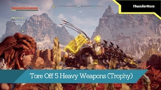 Horizon Zero Dawn - Tore Off 5 Heavy Weapons (Trophy)