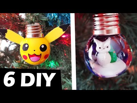 HOW TO MAKE 6 CHRISTMAS Decoration Ornaments DIY 5-minute crafts polymer clay resin pokemon