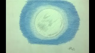 Drawing tutorial 1 - How to draw a Full Moon  (with coloured pencils) - READ DESCRIPTION!!!