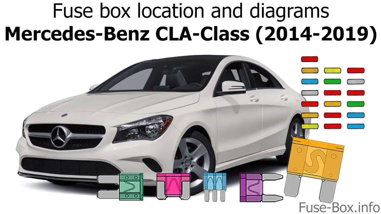 medium resolution of fuse box location and diagrams mercedes benz cla class 2014 2019
